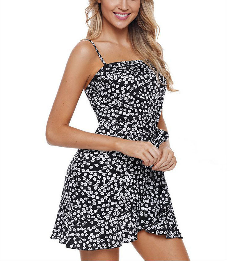 Mini Club Dress with Ruffled Wrap Skirt