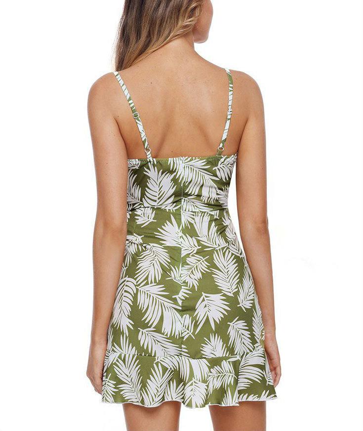Mini Club Dress with Ruffled Wrap Skirt