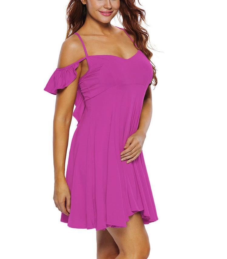 Flirty Ruffled Cocktail Dress