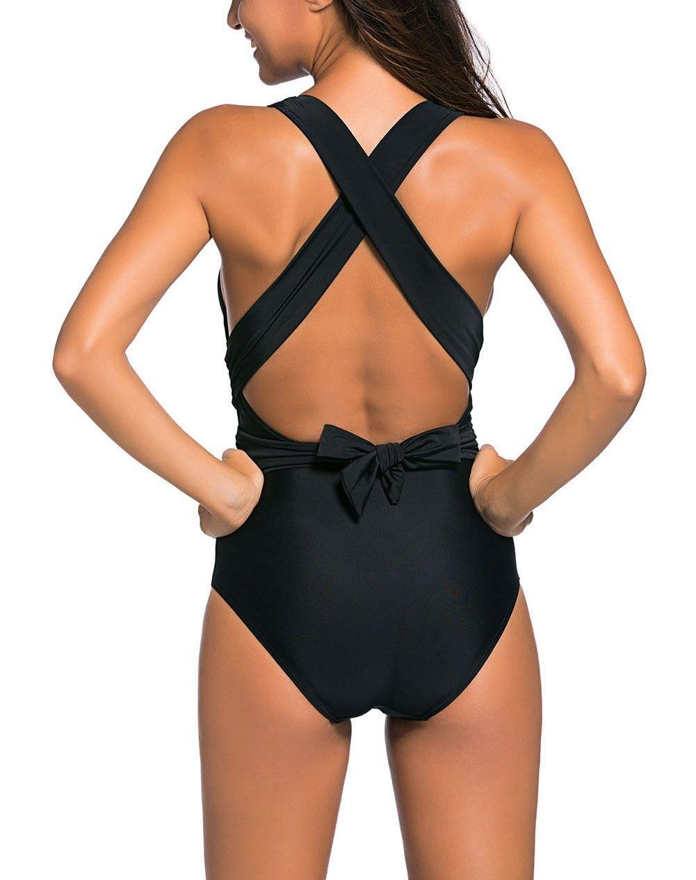 One-Piece Swimsuit with  Wrapped Waistline