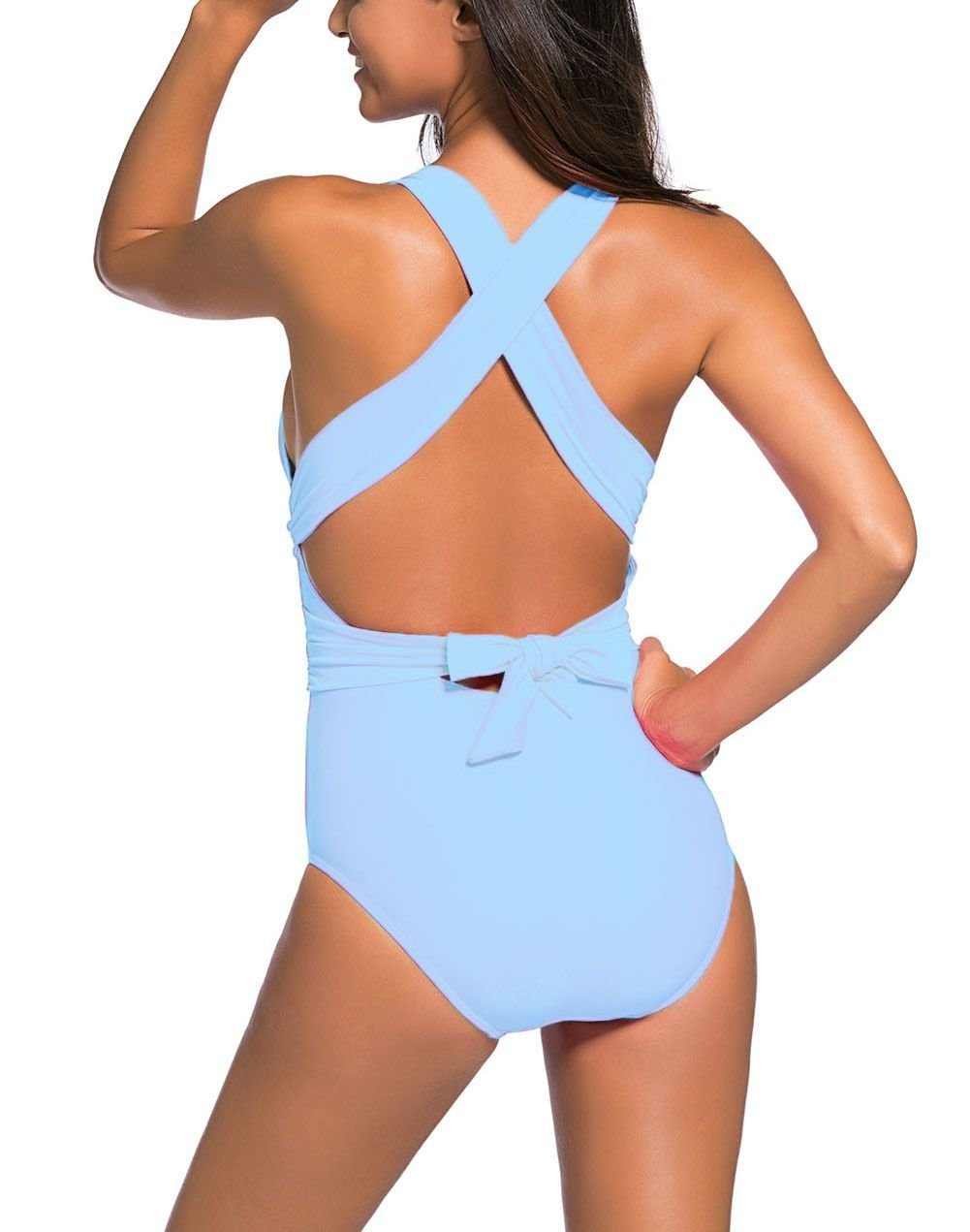 One-Piece Swimsuit with  Wrapped Waistline