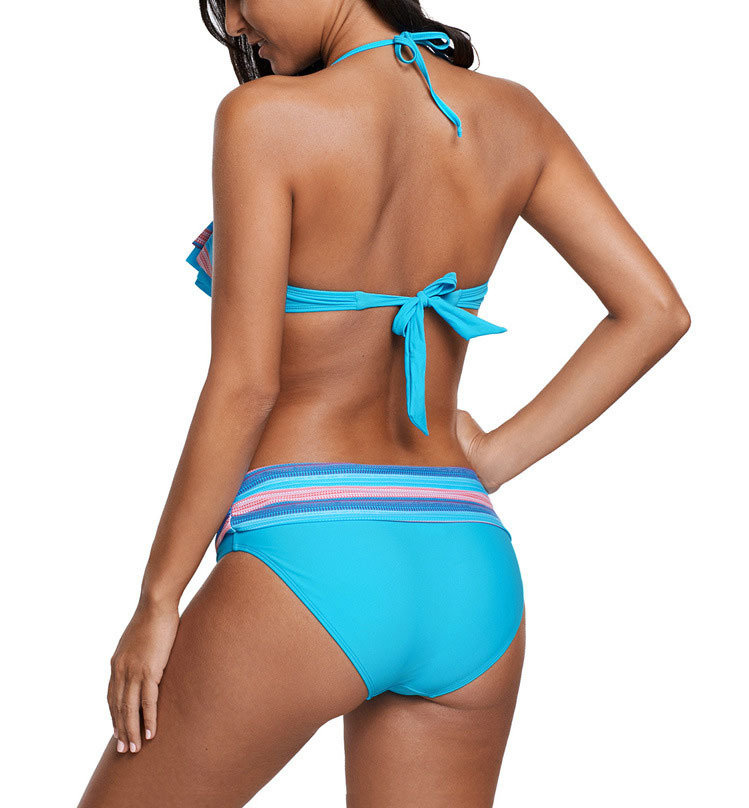 Front Ruffle Two-Piece Bikini Swimsuit