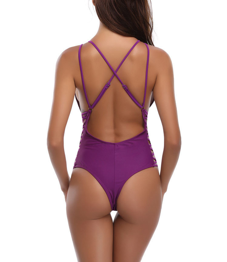 Strappy One-Piece Swimsuit with Brazilian Back