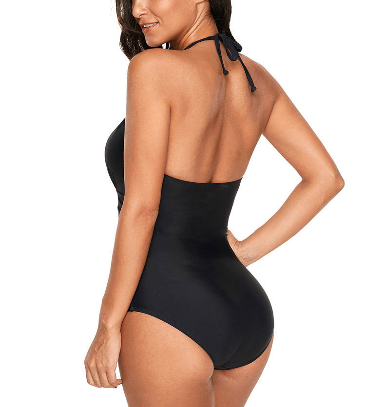 Classic Black One-Piece Swimsuit