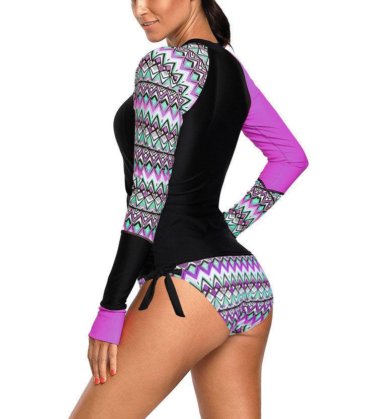 Swimsuit with Long Sleeves and Convertible Cuffs