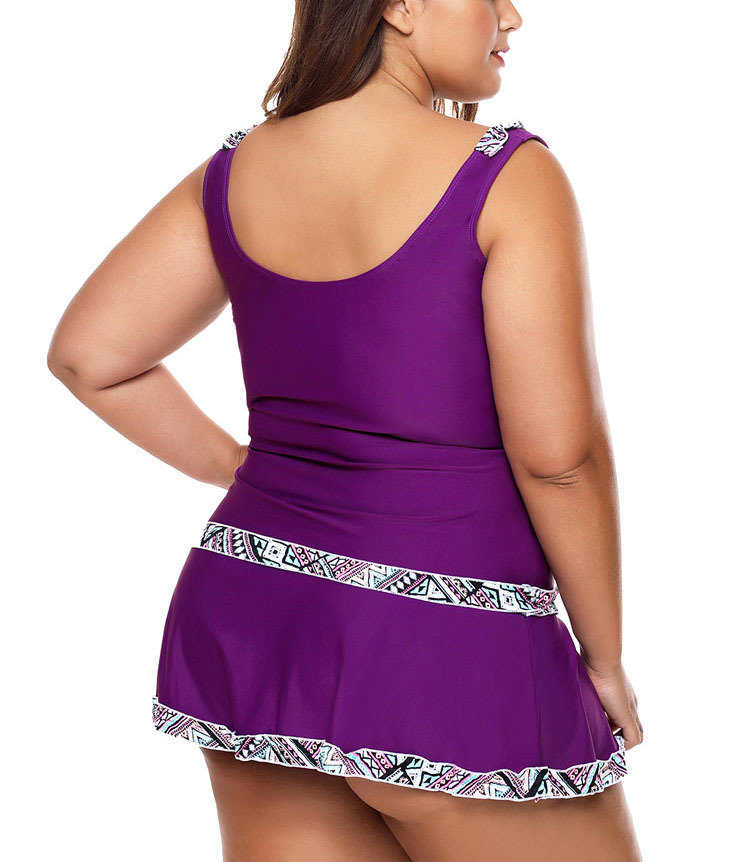 Two-Piece Swimsuit with Skirt