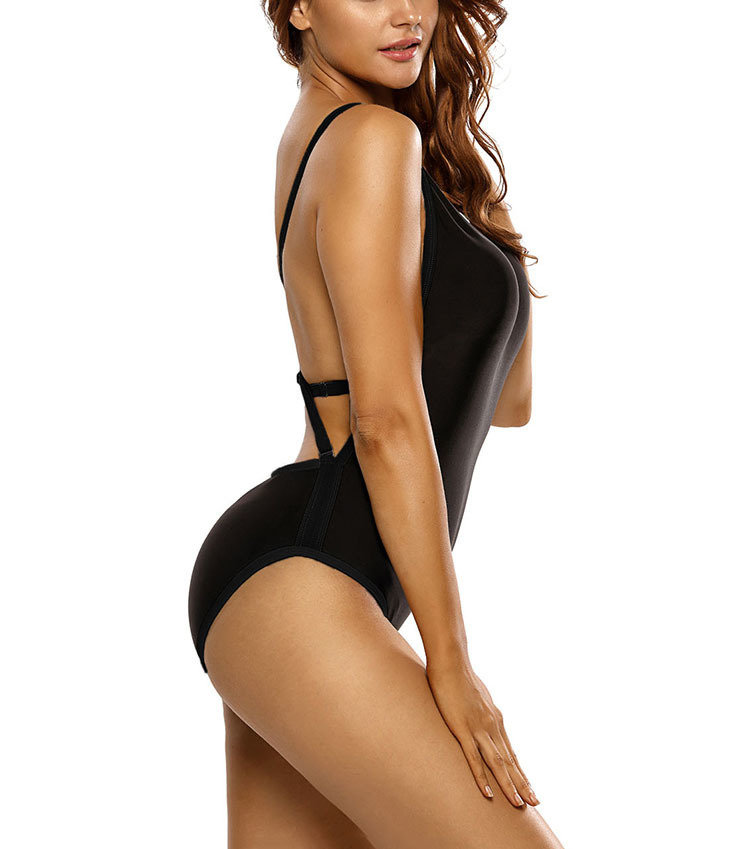 One-Piece Swimsuit with Adjustable Criss-Cross Straps