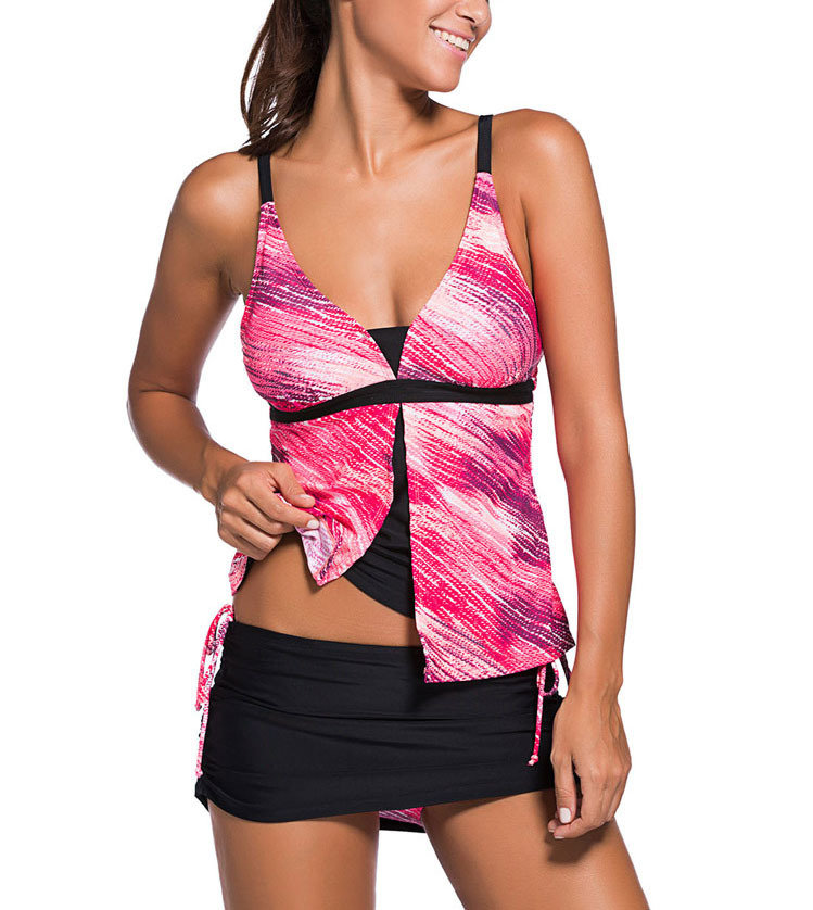 Tankini Swimsuit with Skirted Bottom