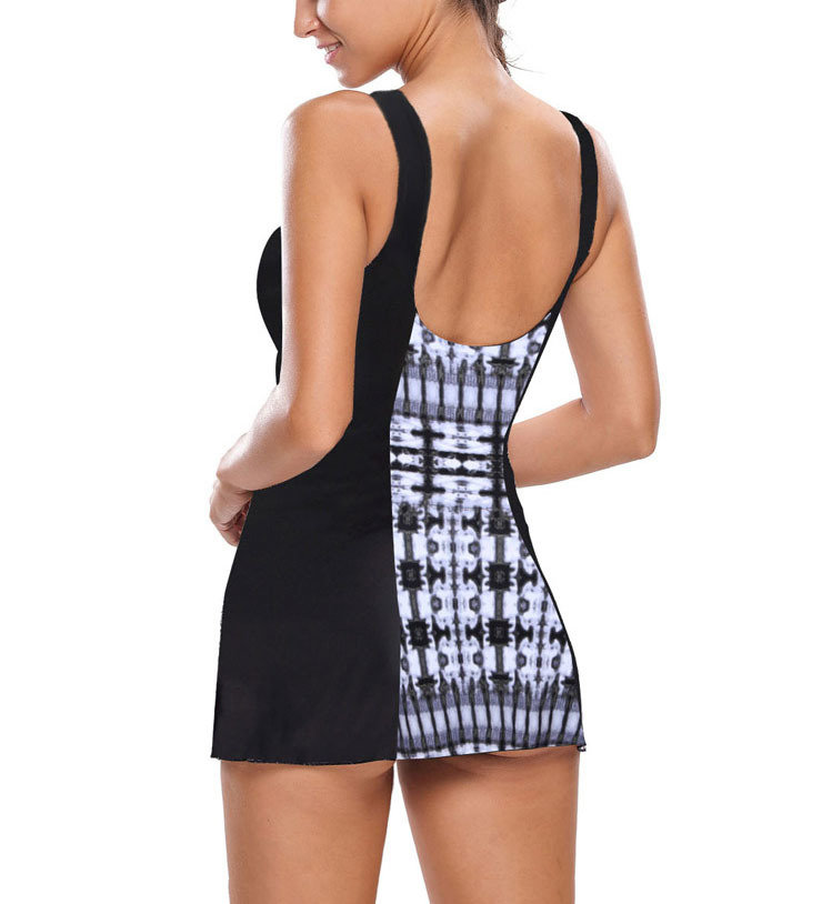 Mini Dress Swimsuit with Swing Skirt