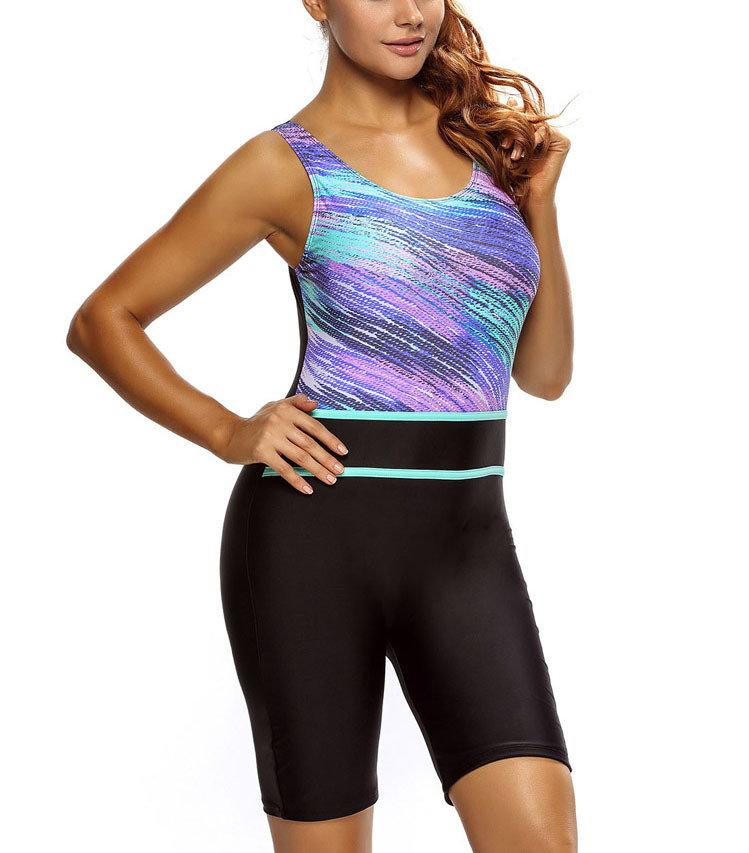 Unitard Swimsuit with Bike Length Shorts