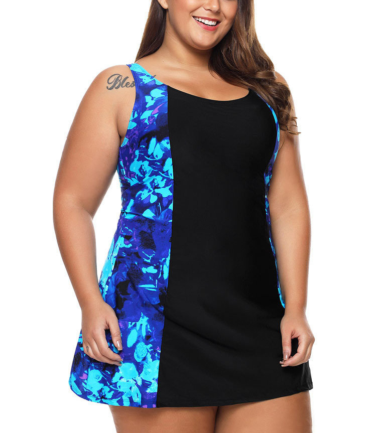 Swimsuit with Princess-Seamed Dress
