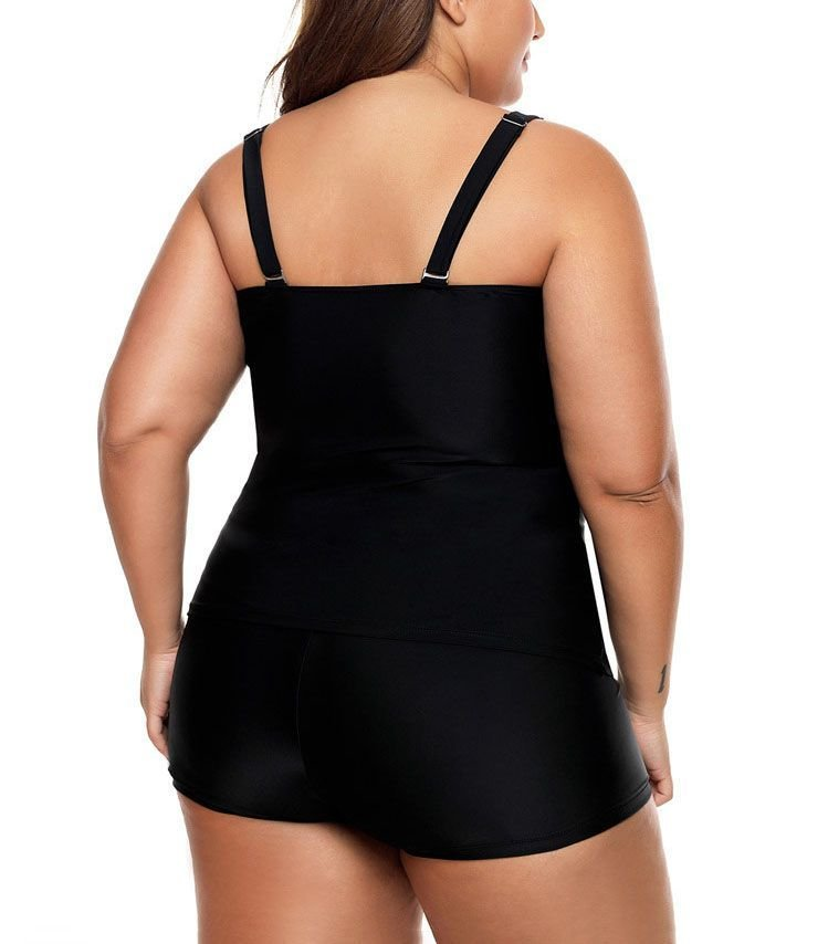 Tankini Swimsuit with Boy Shorts