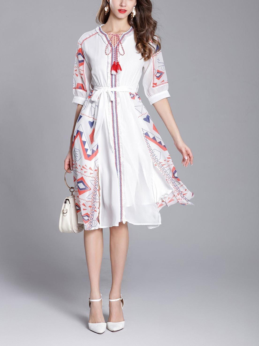 Stylish Chiffon Work Dress