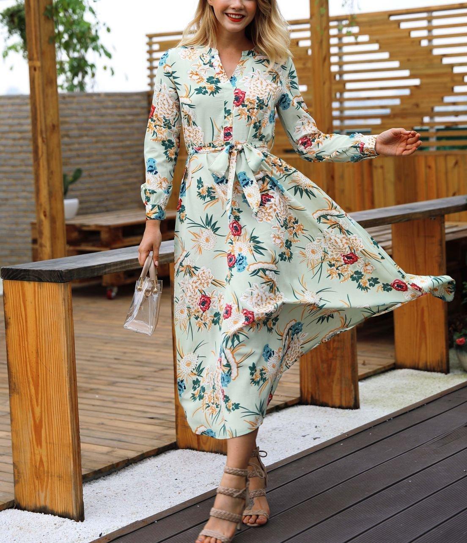 Tea-Length Chiffon Cocktail Dress