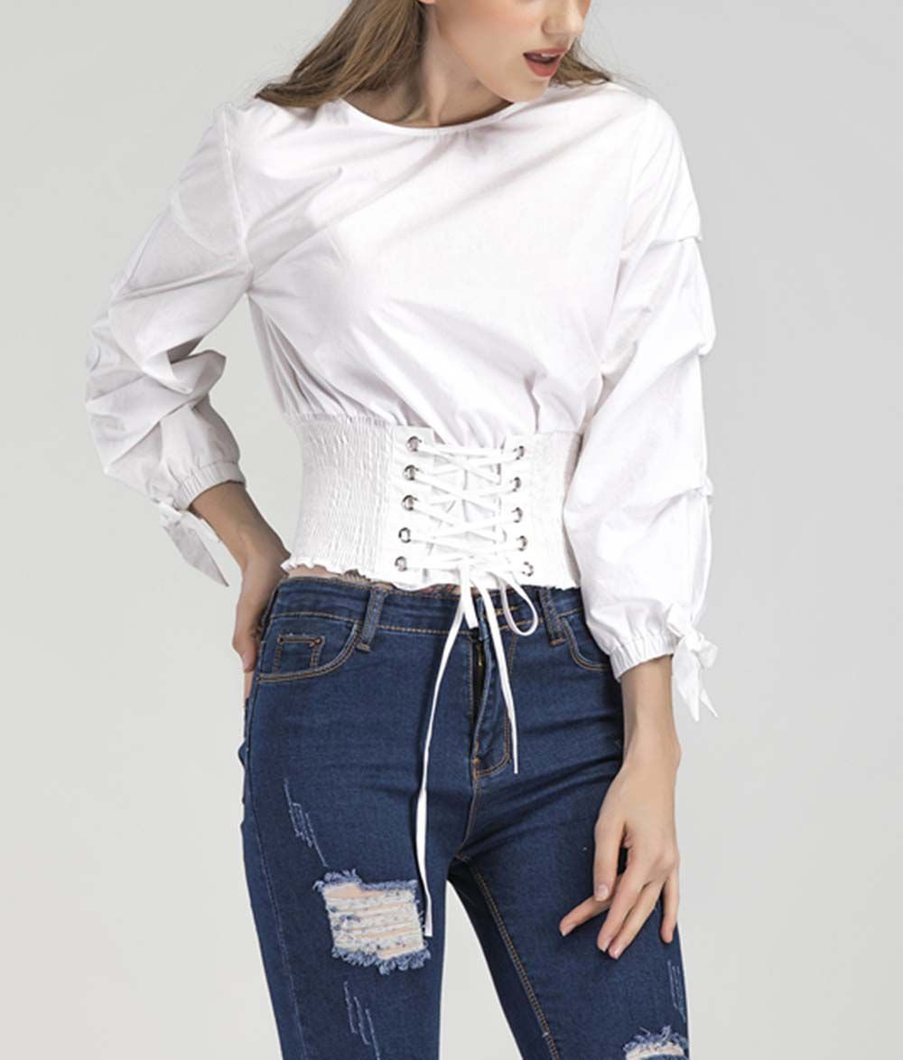 Cropped Top with Corset Waist