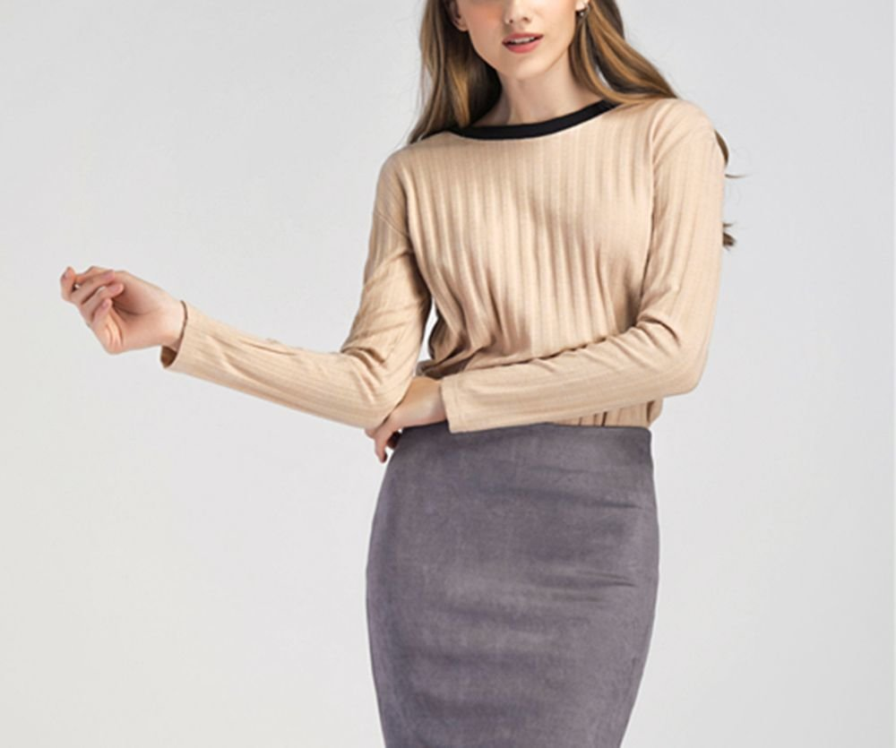 Ribbed Pullover Sweater Top