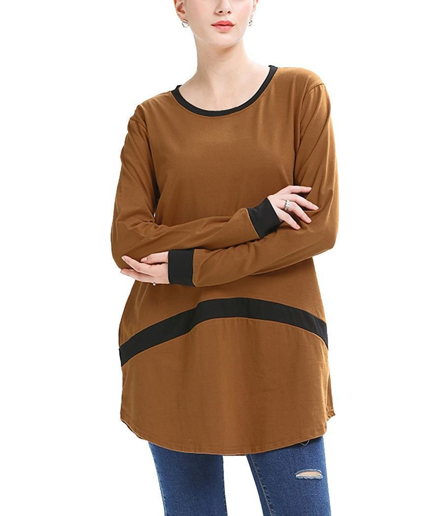 Large Size Tee with Bold Stripe