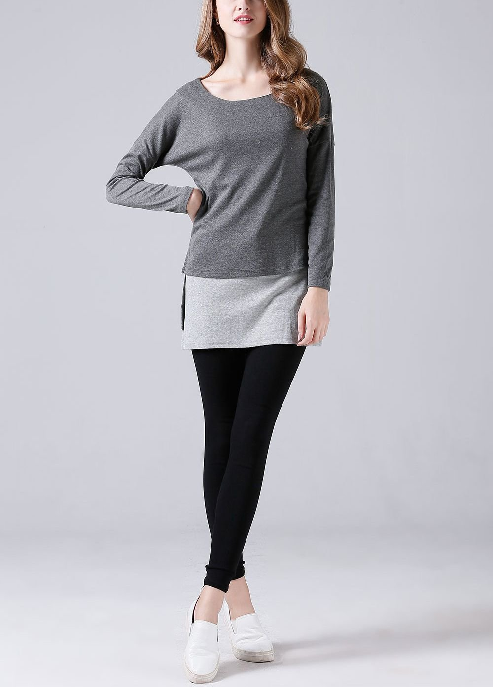 Layered-Look Tee Top