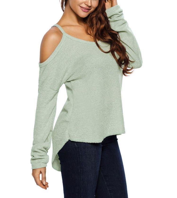 Cold Shoulder Knitwear Top with Camisole Straps