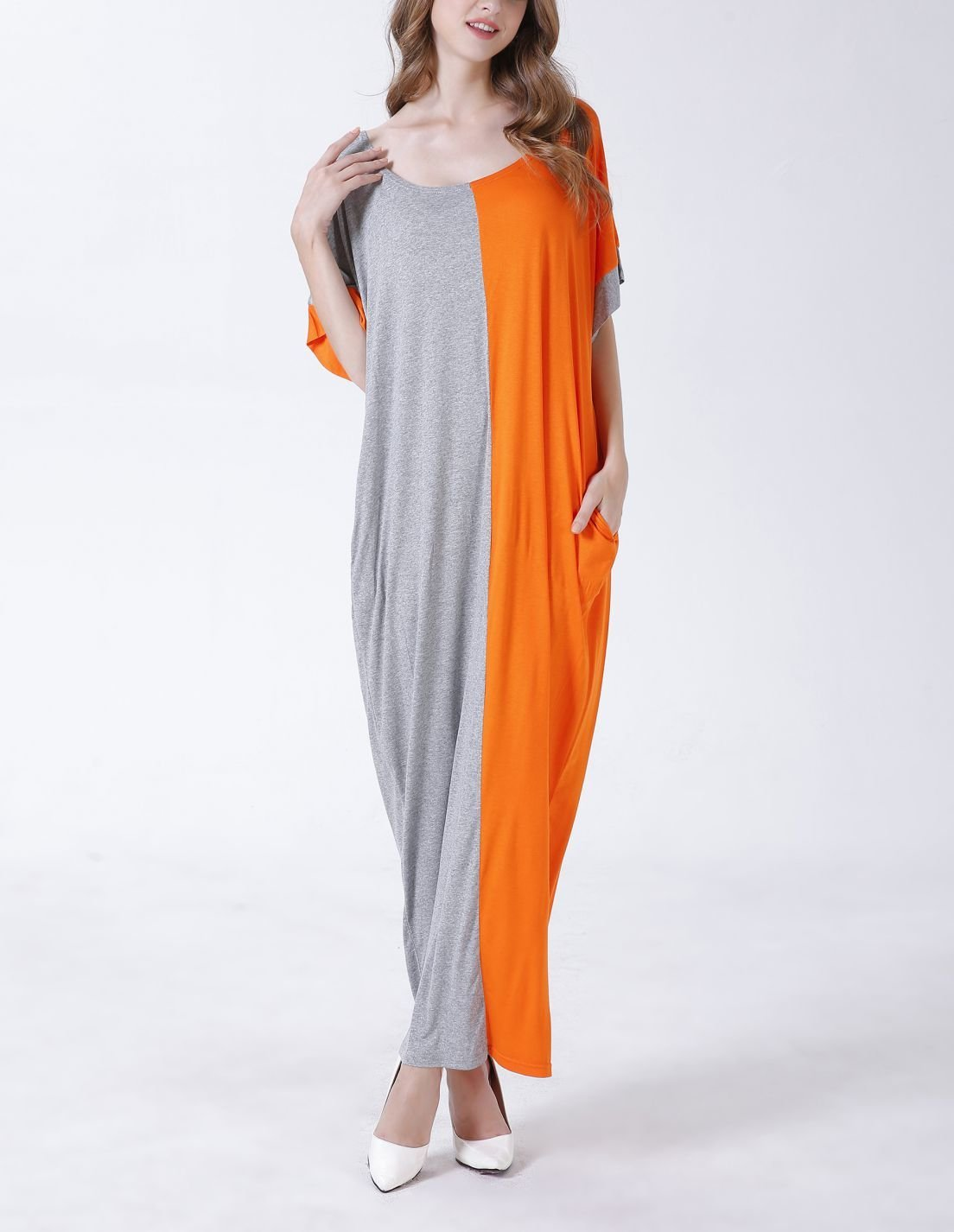 Long Casual Dress with Side Pockets
