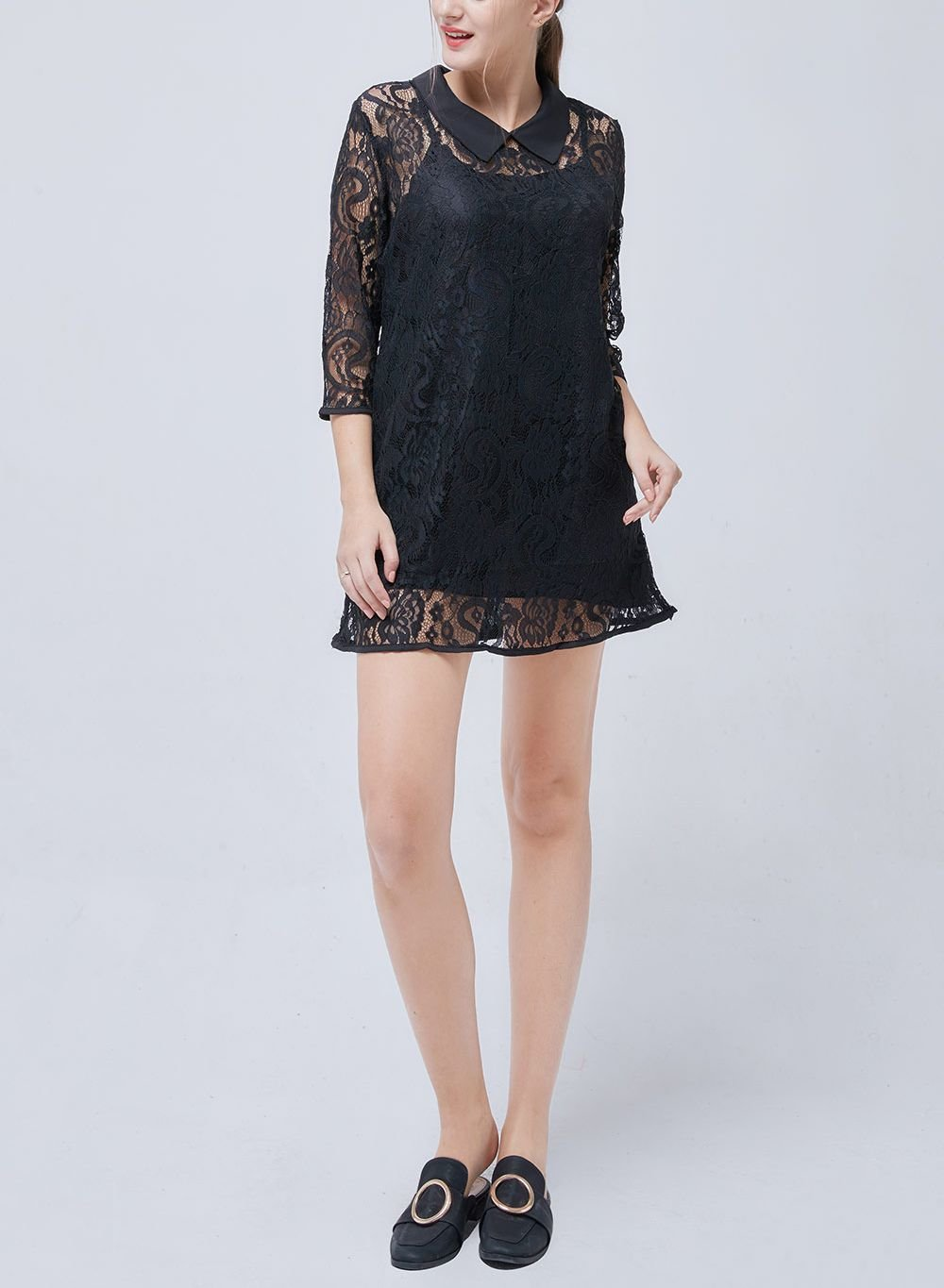 Long Sleeved Lace Top or Mini Dress