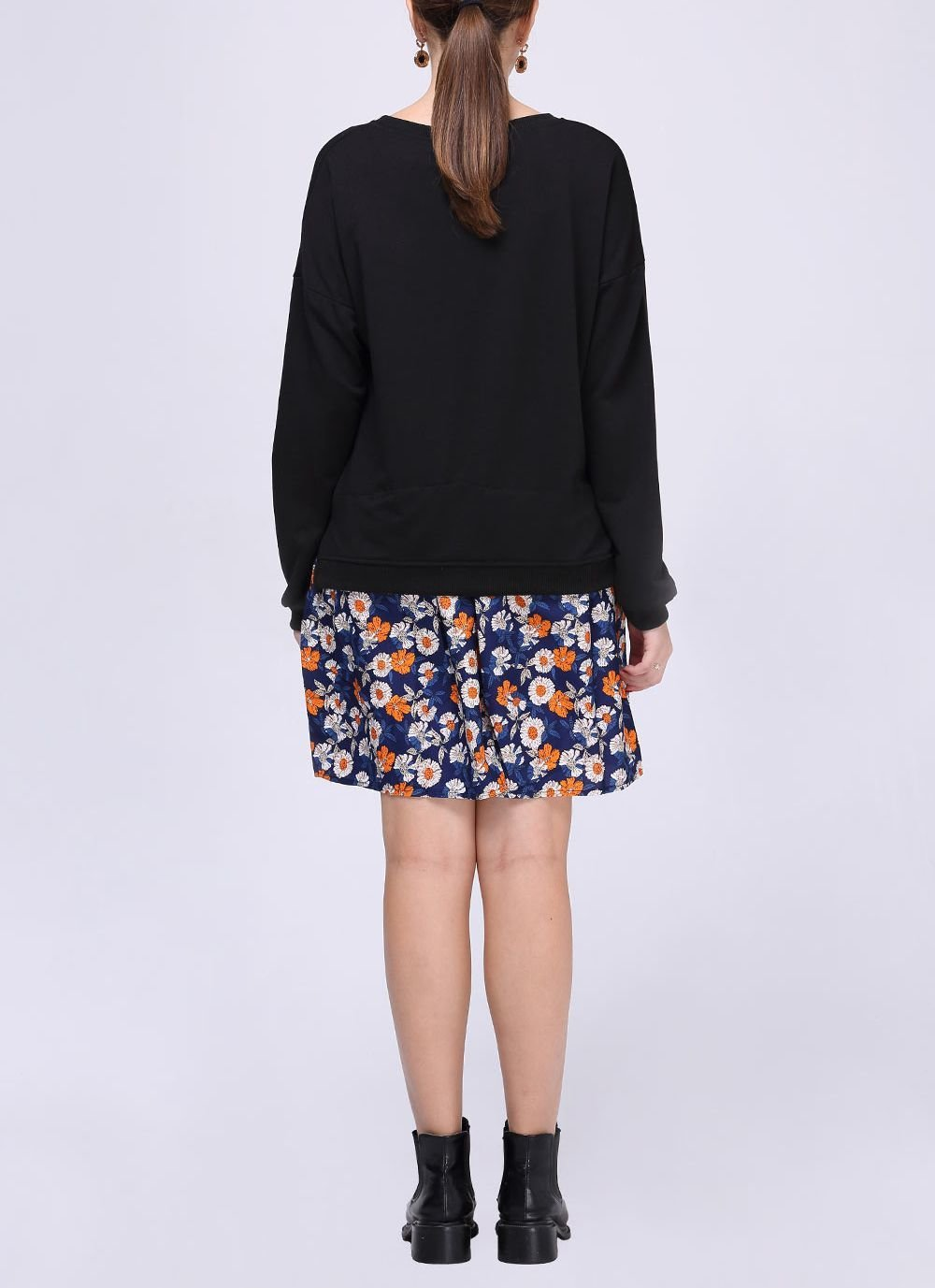Faux Two-Piece Casual Dress