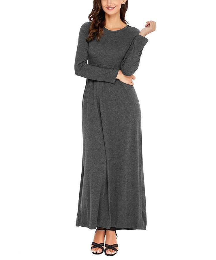 Empire Waist Work Dress with Side Pockets