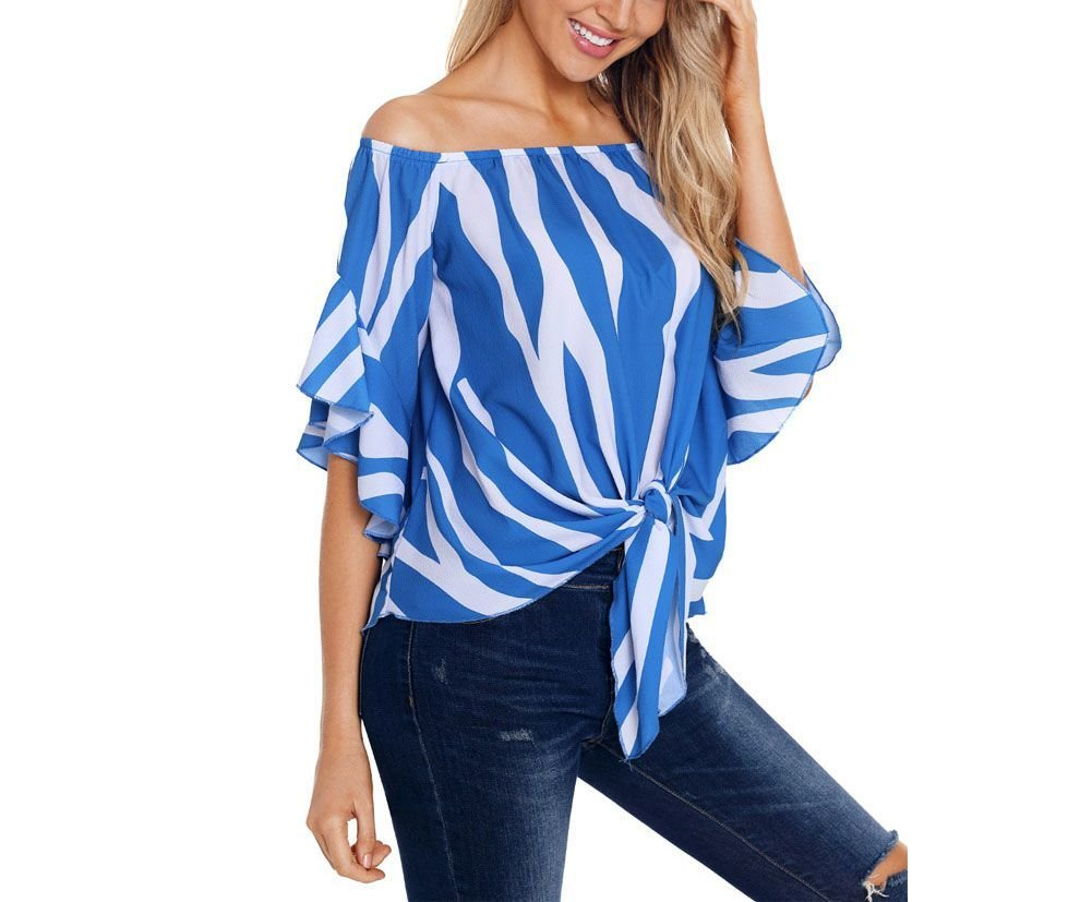 Large Size Top with Zebra Stripes