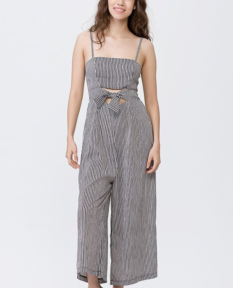 Cropped Overalls Jumpsuit with Elasticized Smocking in Back