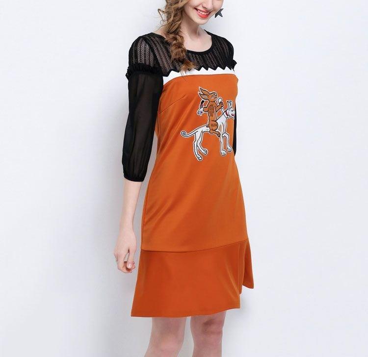 Cartoon Graphic Casual Dress