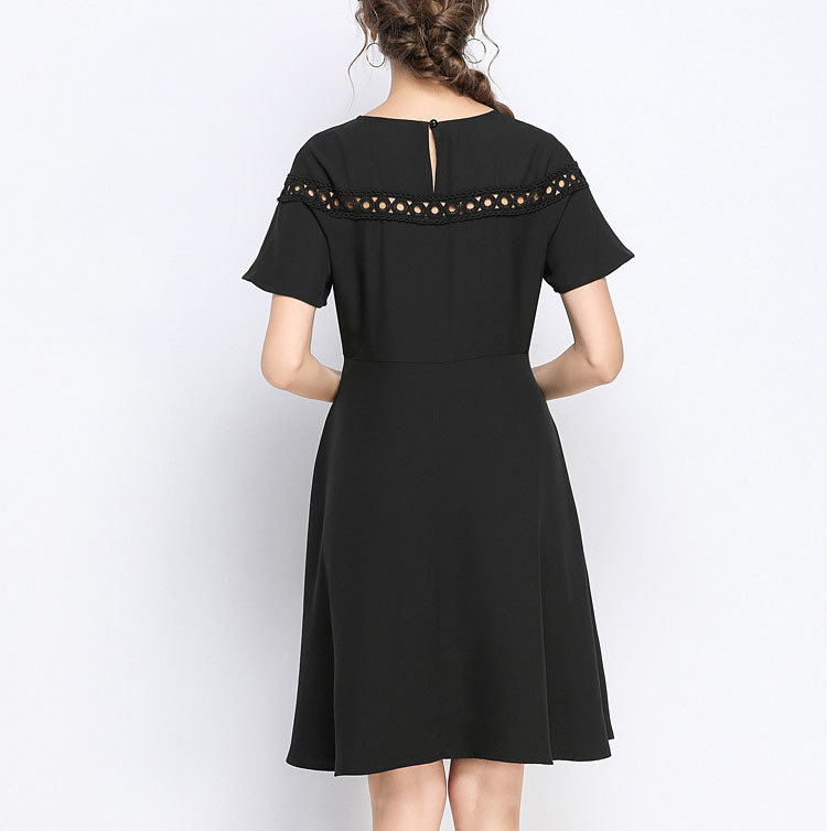 Plus Size Work Dress with Lace Inserts