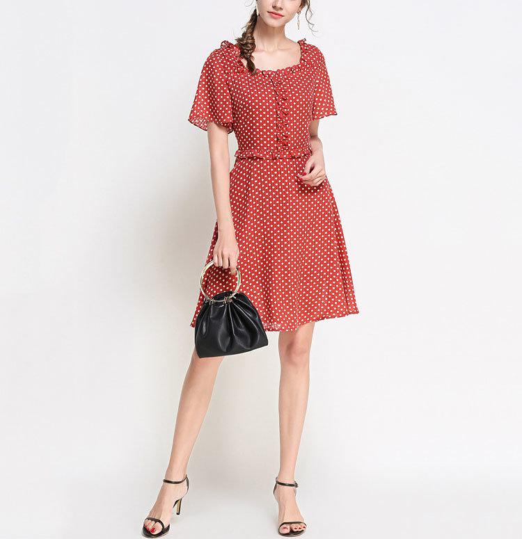 Cute Ruffled Chiffon Cocktail Dress