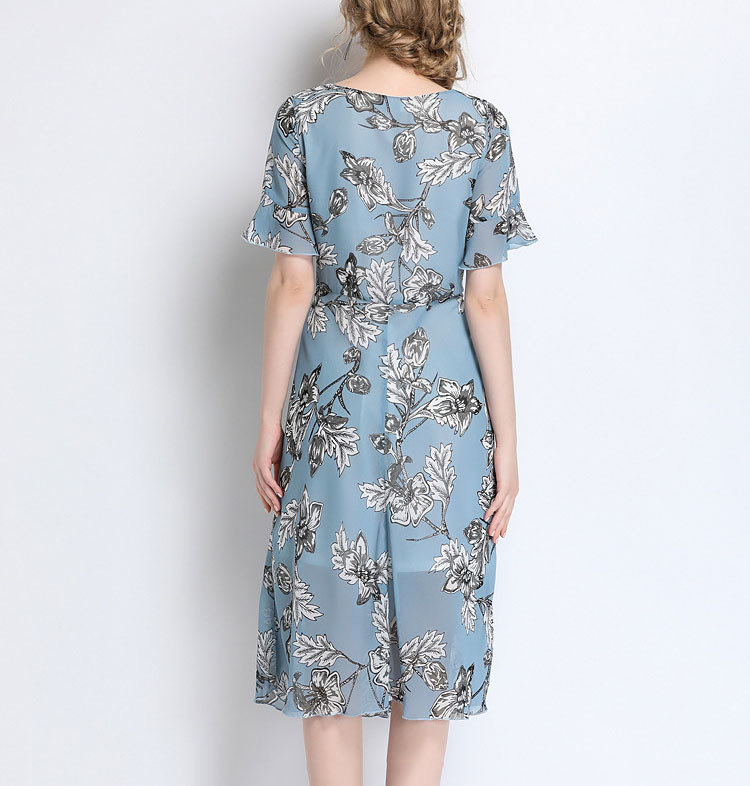 Work Dress in Floral Chiffon