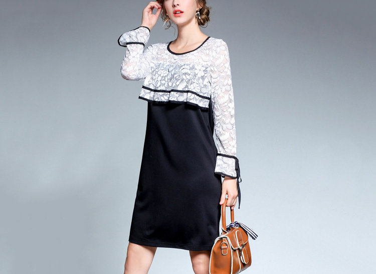Short Formal Dress with 2-Piece Look