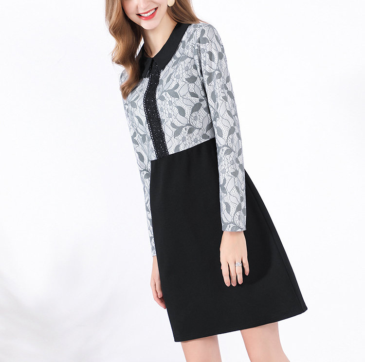 Work Dress with 2-Piece Look and Front Details