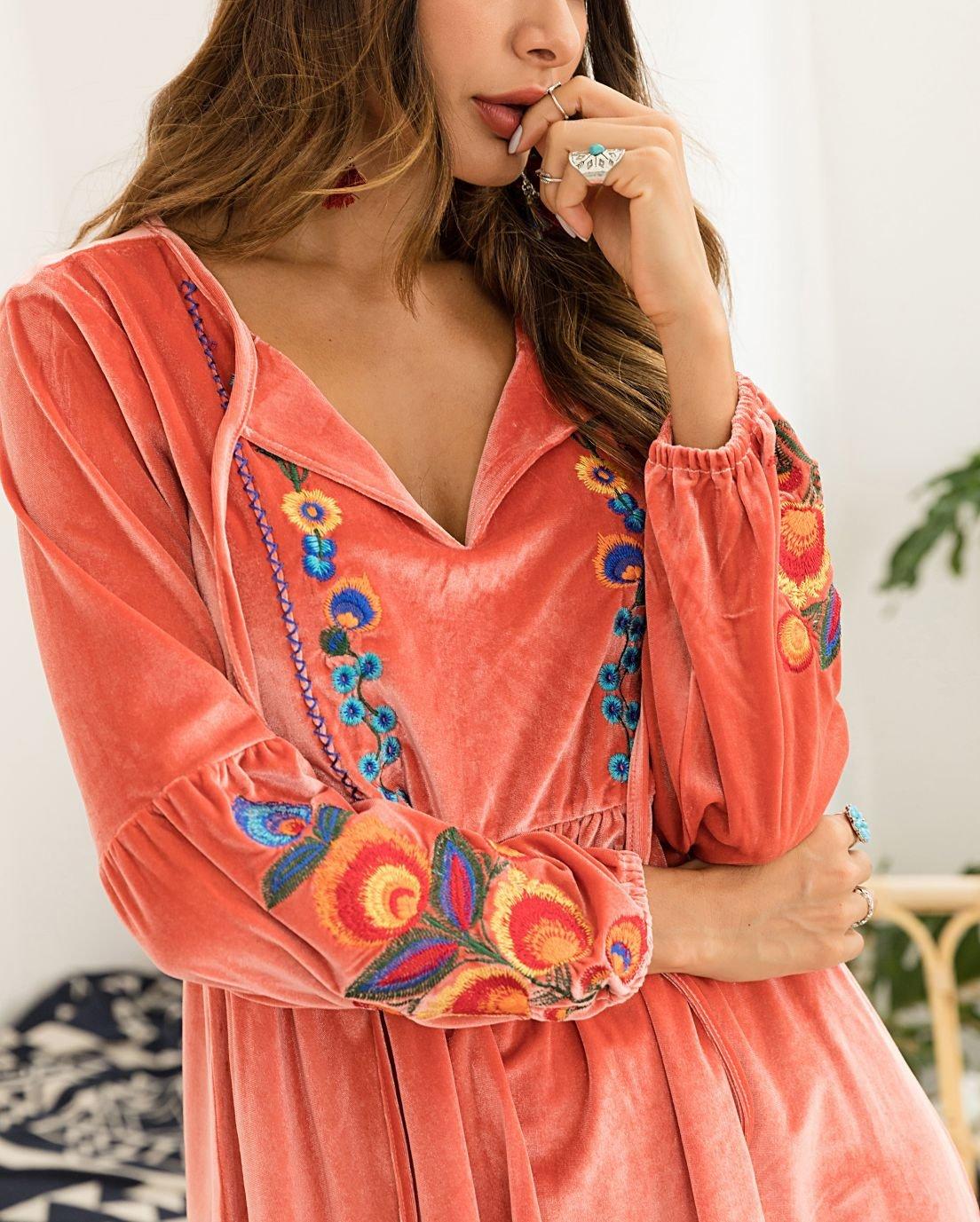 Short Velvet Casual Dress