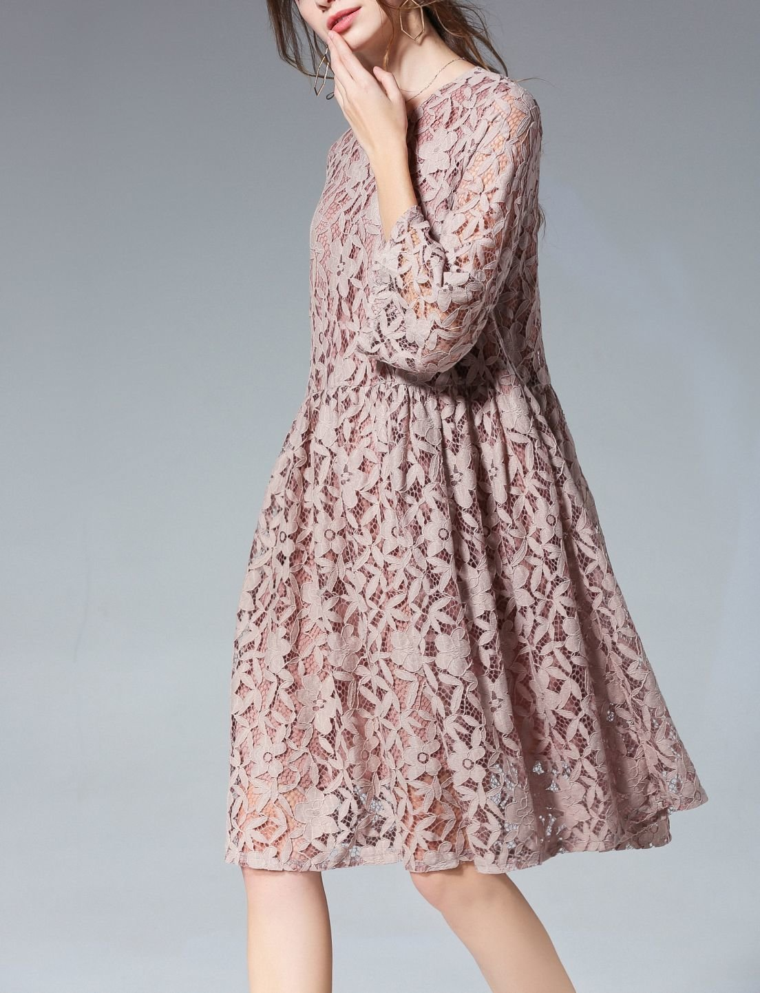 Plus Size Formal Dress of High Quality Lace