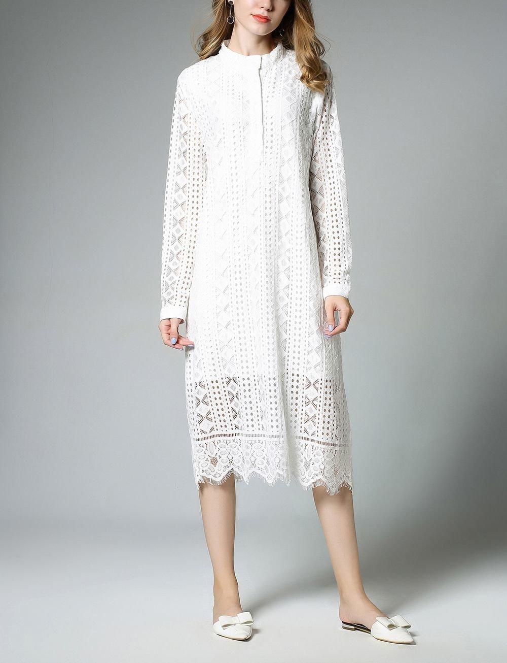 Plus Size Lace Casual Dress