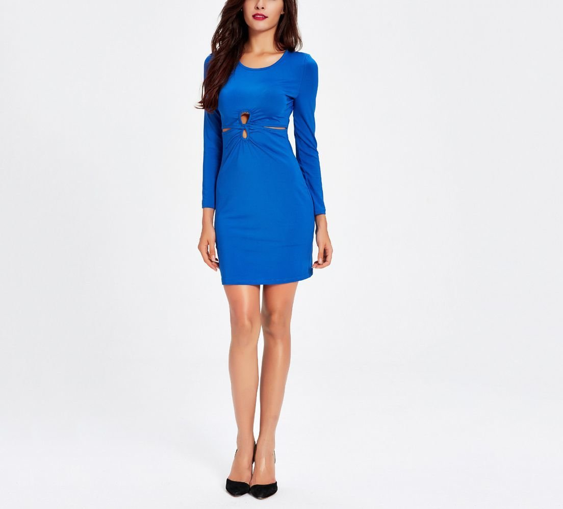 Bodycon Cocktail Dress with Cutout Details