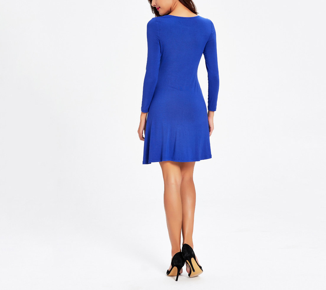 Knit Cocktail Dress with Front Twist