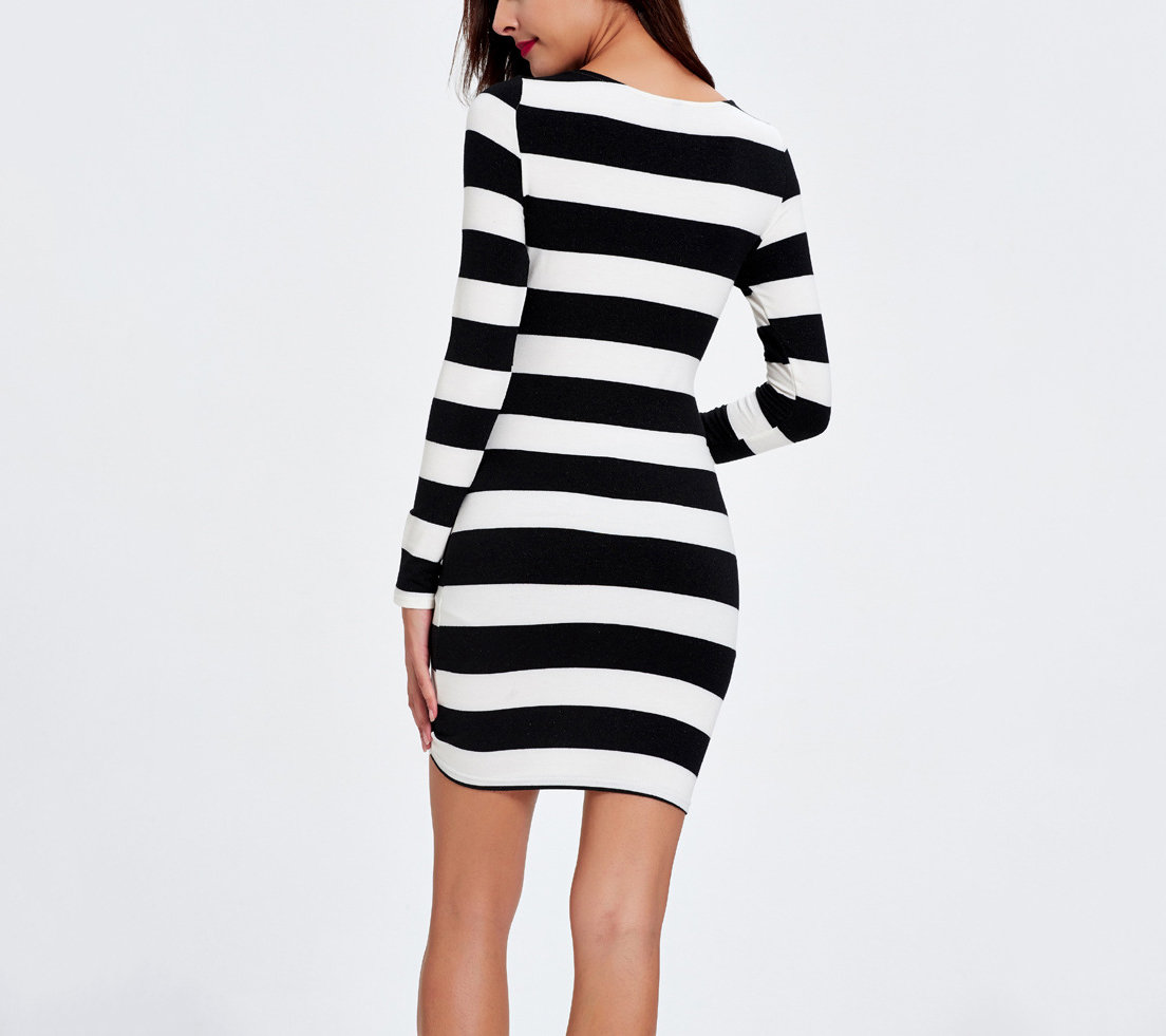 Bodycon Knit Club Dress with Front Cutout