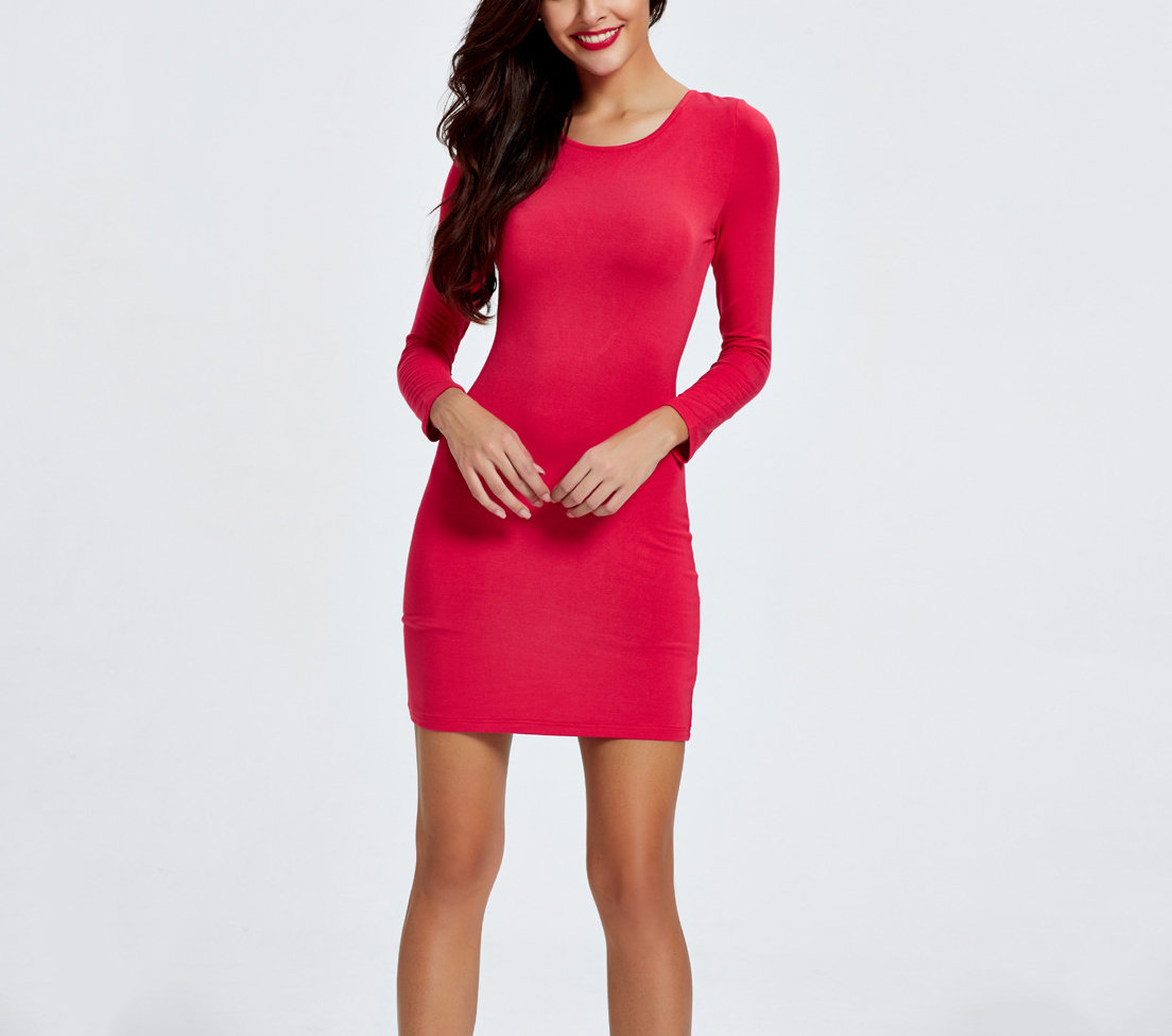 Club Dress with Deep Scoop Back and Lattice Straps