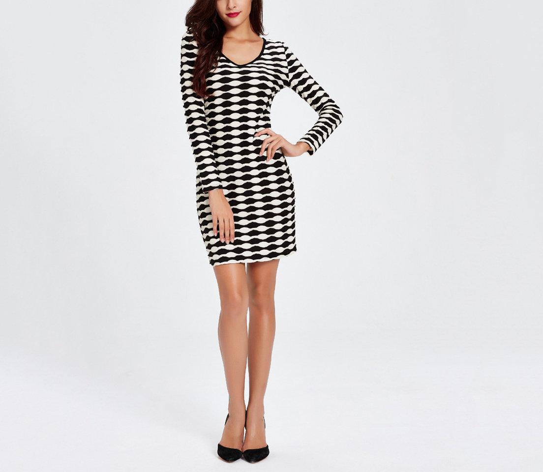 Optic Print Dress for Work or Fun