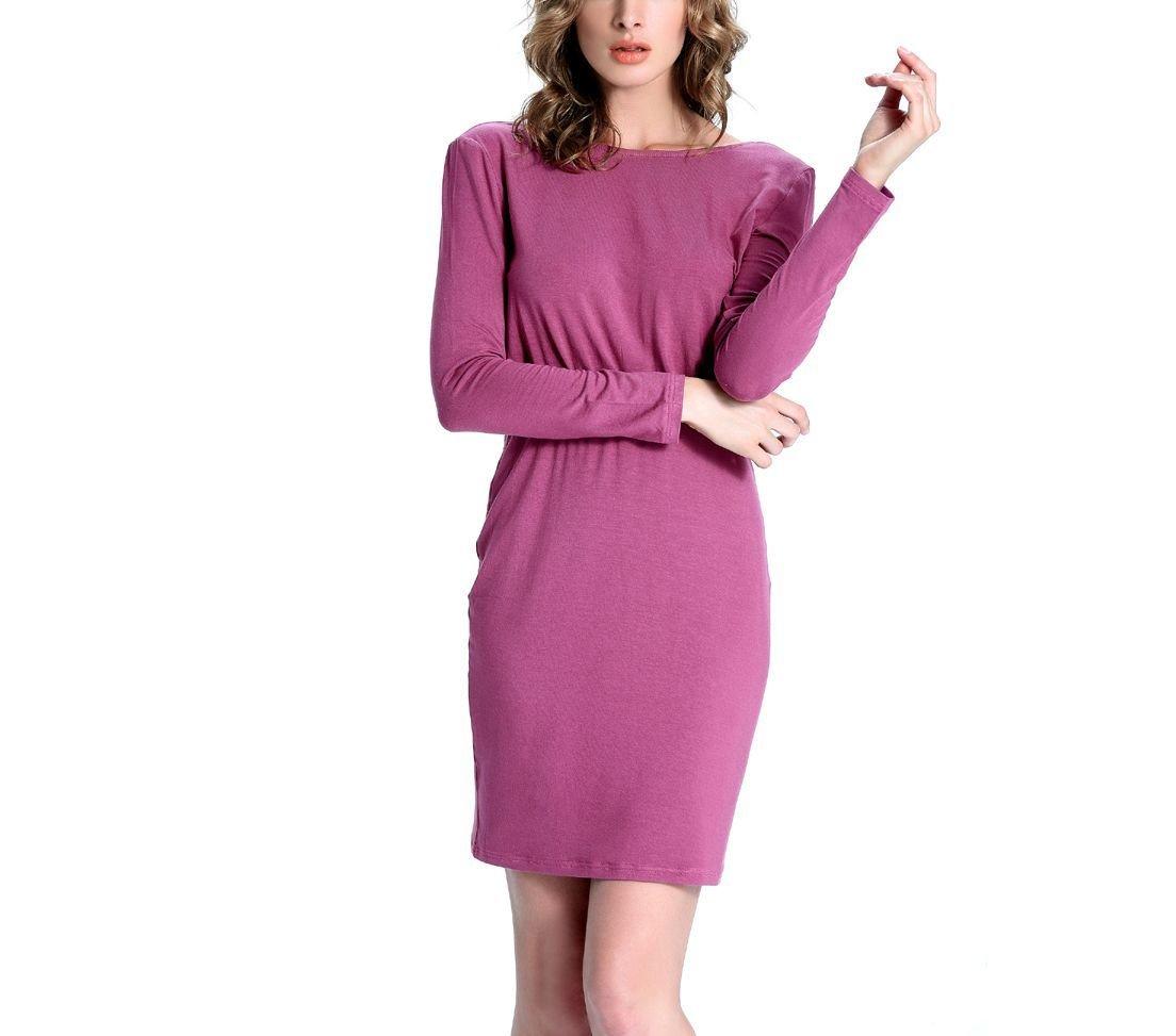 Elastic Waist Knit Work Dress