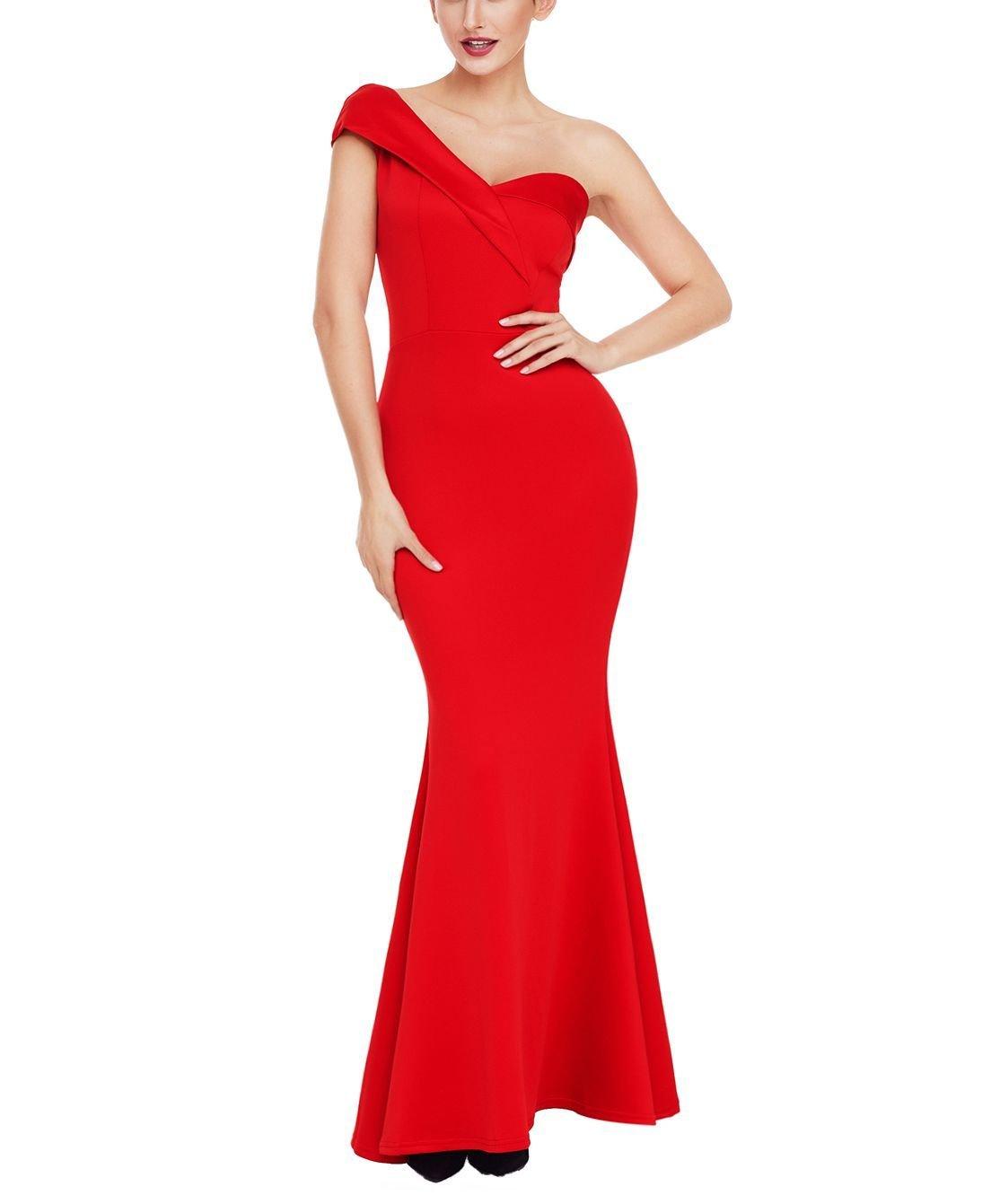 One-Shoulder Mermaid Formal Dress