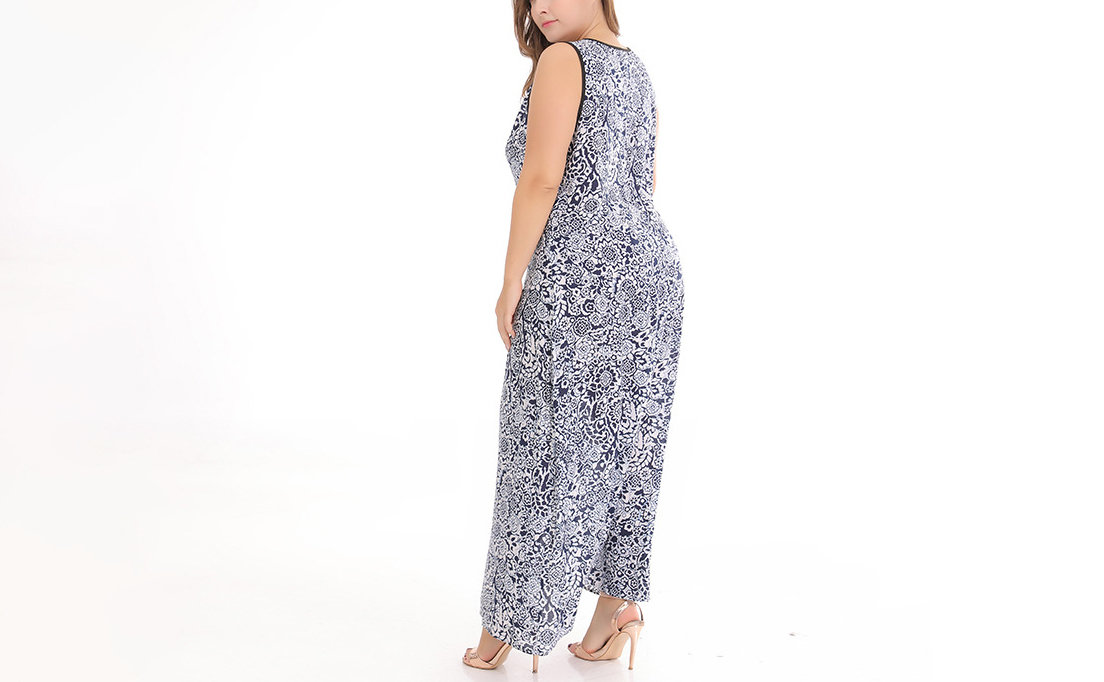 Maxi Sleeveless Casual Dress in Plus Sizes