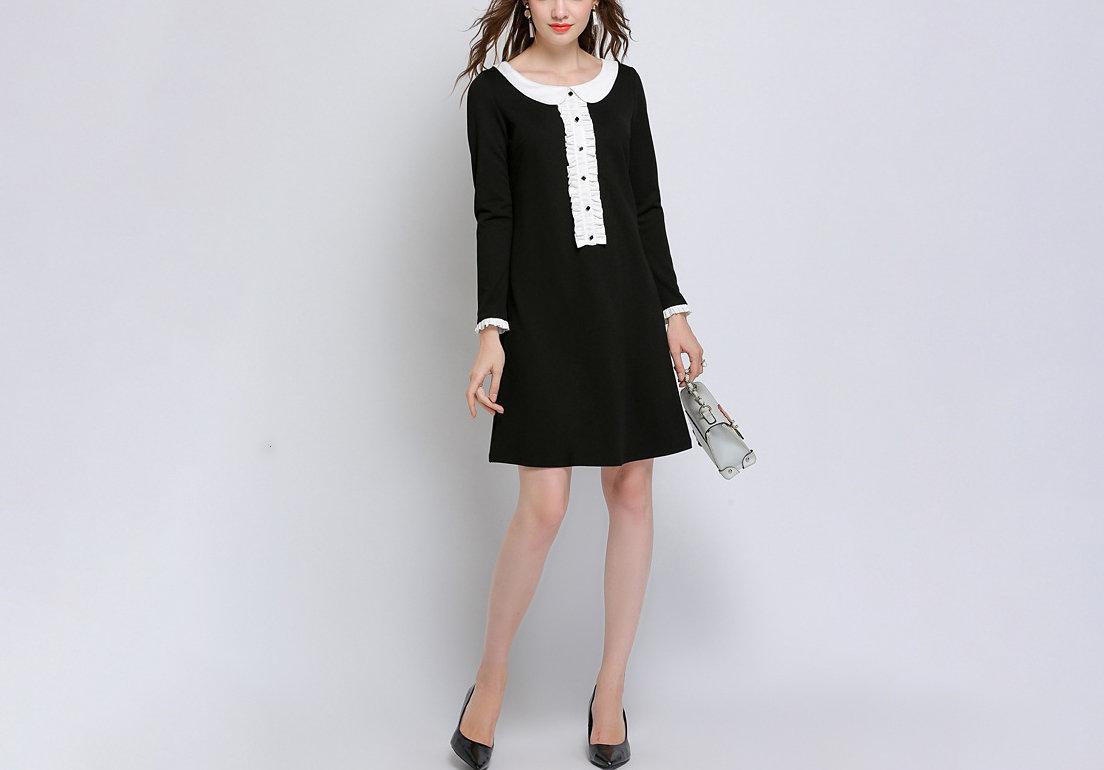 Work Dress with Tuxedo Shirt Styling