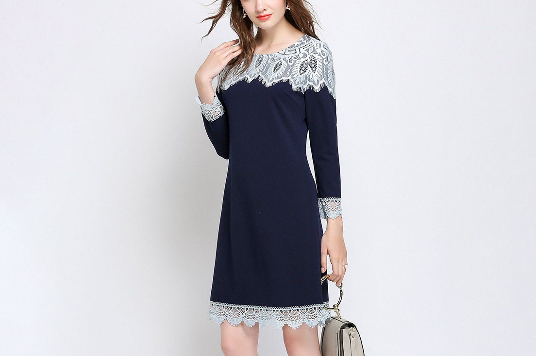 Cocktail Dress with Lace Detail