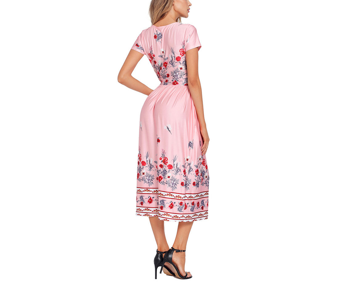 Tea-Length Cocktail Dress in Shiny Fabric
