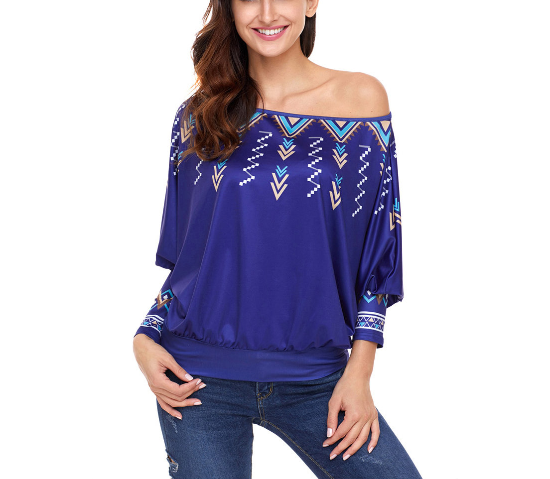 Large Size Knit Top with Long Sleeves and Banded Bottom